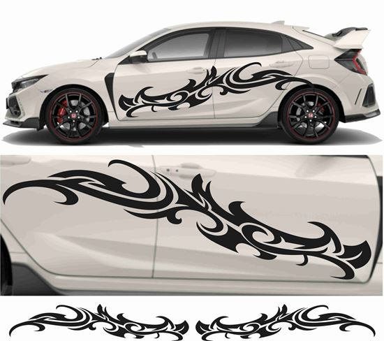 Picture of JDM side Floral Tribal Graphics
