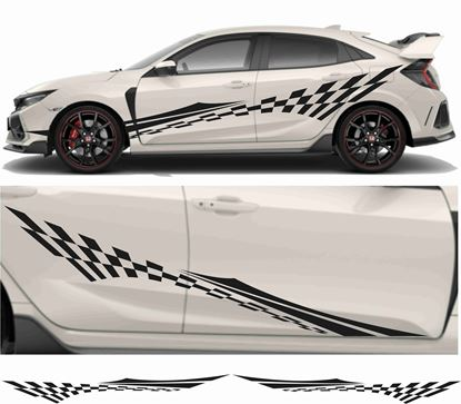 Picture of JDM side chequer Flash Graphics