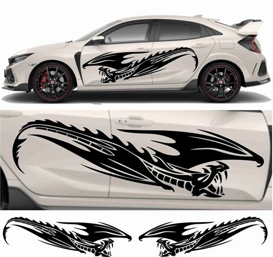 Picture of JDM side Tribal Dragon Graphics
