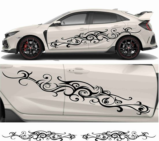 Picture of JDM side Oriental Floral Graphics