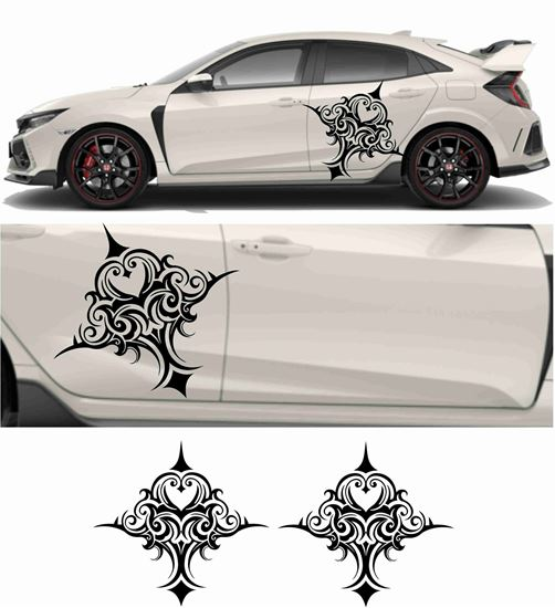Picture of JDM side Tribal shield Graphics