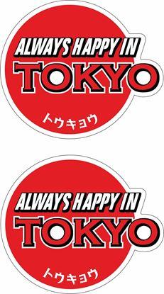 Picture of Always happy in Tokyo Decals / Stickers