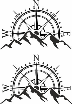 Picture of Compass Decals  / Stickers