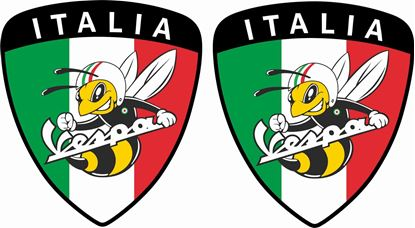 Picture of Vespa Italia Bee Decals / Stickers