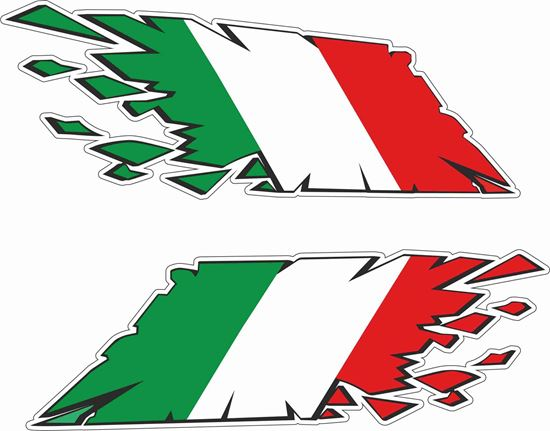 Picture of Italia Broken Flag Decals / Sticker