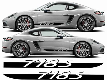 Picture of Porsche Cayman / Boxster 718 S side Stripes / Stickers