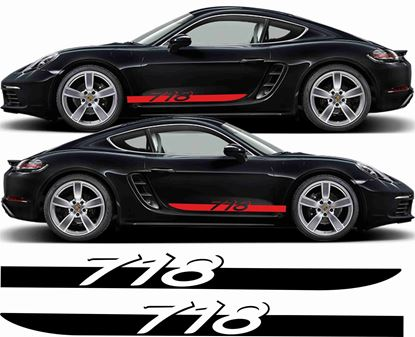 Picture of Porsche Cayman / Boxster 718  side Stripes / Stickers