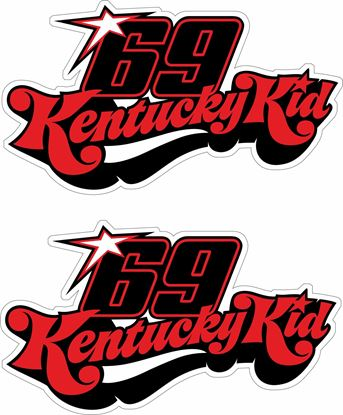 "Picture of ""69 Kentucky Kid"" Track and street race sponsor logo"