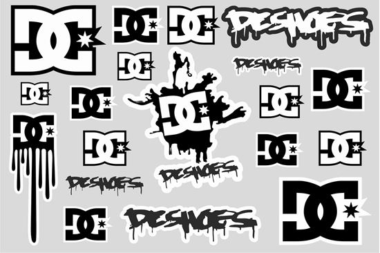 """Picture of """"DC""""  Track and street race sponsor Sticker Sheet"""