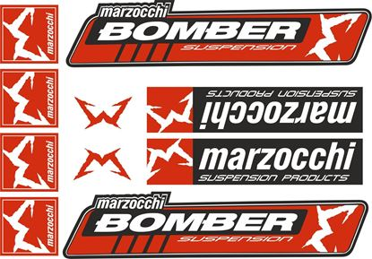 Picture of Marzocchi Bomber Suspension Frame Sticker kit