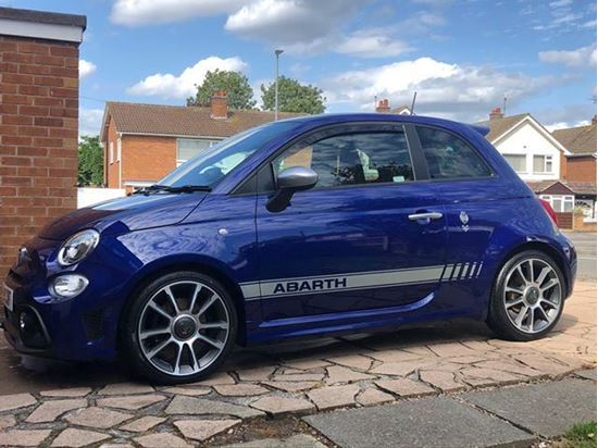 Picture of Fiat 595 Abarth OEM style side Stripes / Stickers