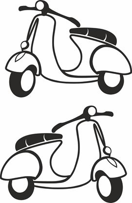 Picture of Vespa General Panel Decal / Stickers