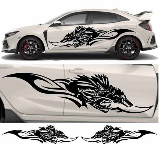 Picture of JDM side Wolf Tribal Graphics