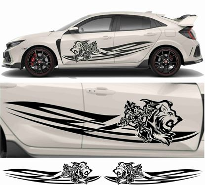 Picture of JDM side Lion and Cross Graphics