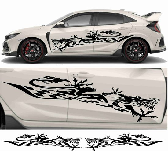 Picture of JDM side Dragon Tribal Graphics