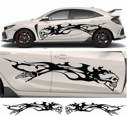 Picture of JDM side Skull Tribal Graphics