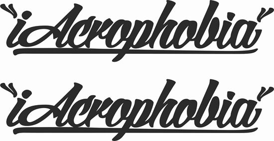 """Picture of """"iAcrophobia"""" JDM Decals / Stickers"""