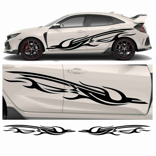 Picture of JDM side Swoosh Tribal Graphics