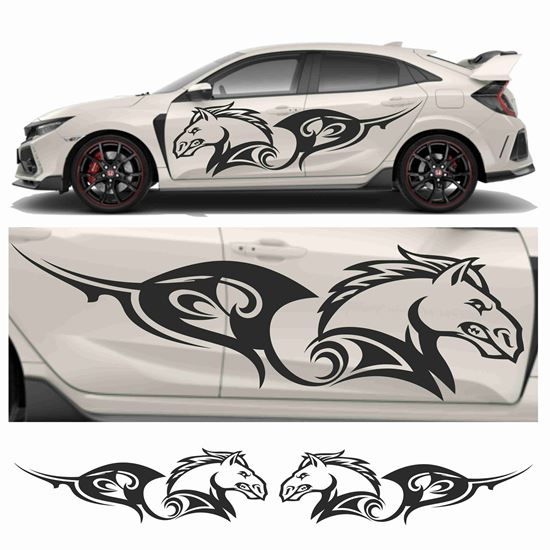 Picture of JDM side Raging Horse Tribal Graphics