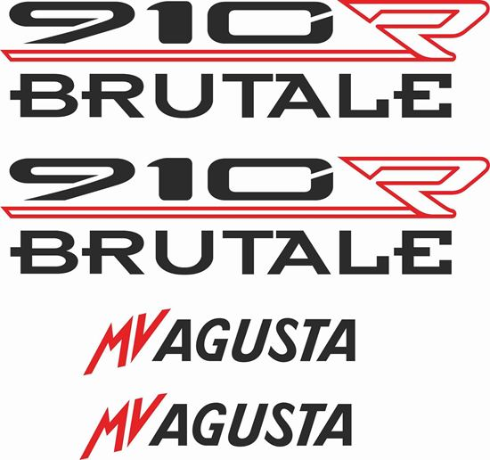 Picture of MV Agusta Brutale 910R Decals / Stickers