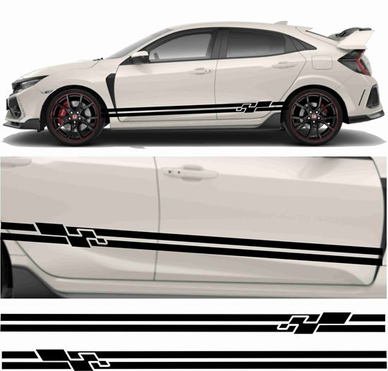 Picture of JDM side Sport Stripe Graphics