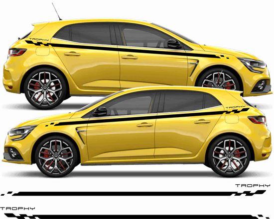 "Picture of Renault Megane MK5  ""Trophy"" Side stripes / Stickers"