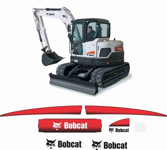 Picture of Bobcat E80 Replacement Decals / Stickers