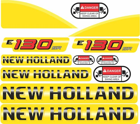 Picture of New Holland E130SR Replacement Decals / Stickers