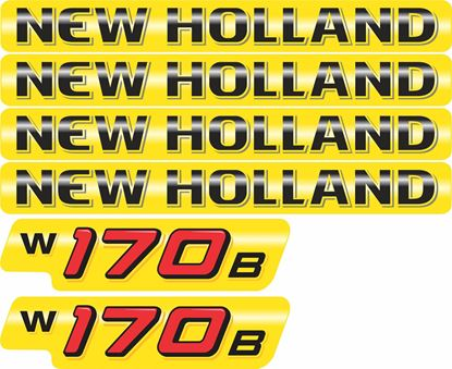Picture of New Holland W170B Replacement Decals / Stickers