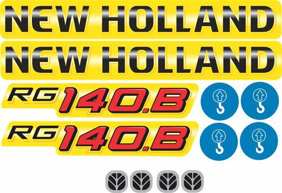 Picture of New Holland R140.B Replacement Decals / Stickers