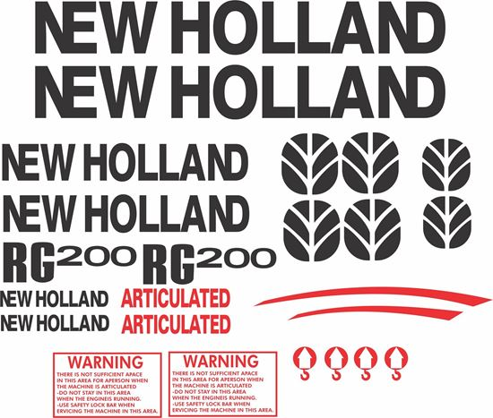 Picture of New Holland RG200 Replacement Decals / Stickers