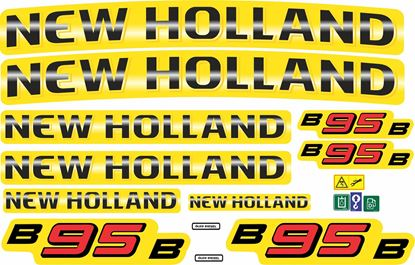 Picture of New Holland B95B replacement Decals / Stickers