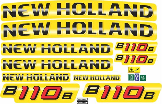 Picture of New Holland B110B Replacement Decals / Stickers