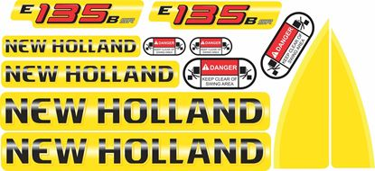 Picture of New Holland E135B SR Replacement Decals / Stickers
