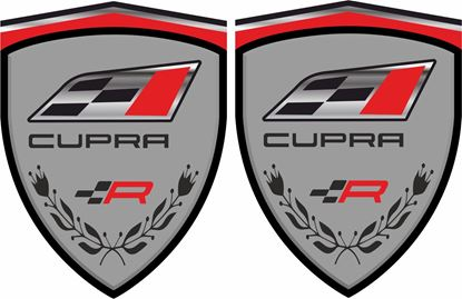 "Picture of Seat ""Cupra R"" wing Decals / Stickers"