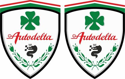 "Picture of Alfa Romeo  ""Autodelta"" Wing Decals / Stickers"