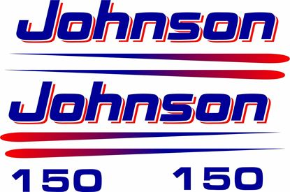 Picture of Johnson 150hp replacement Engine Cover Decals / Stickers