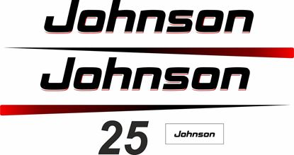 Picture of Johnson 25 replacement Engine Cover Decals / Stickers