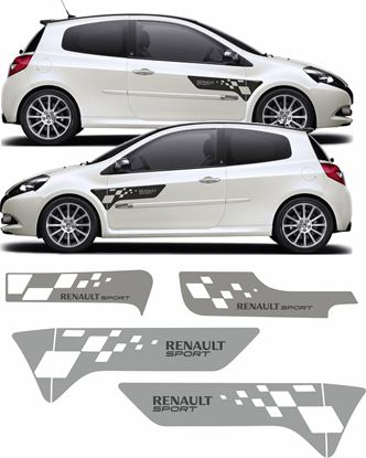 Picture of Renault Clio R27 front, sides and rear F1 style Decals / Stickers