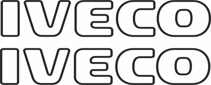Picture of Iveco outline Panel Decals / Stickers