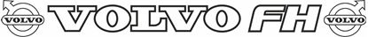"""Picture of """"Volvo FH"""" Front screen Decal / Sticker"""