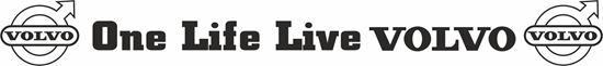 """Picture of """"One Life Live Volvo"""" windscreen / Panel  Decal / Sticker"""