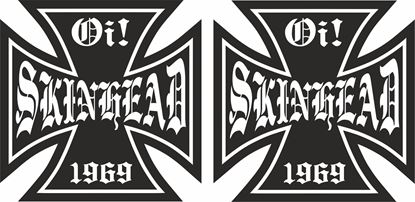 """Picture of """"Oi Skinhead"""" Decals / Sticker"""