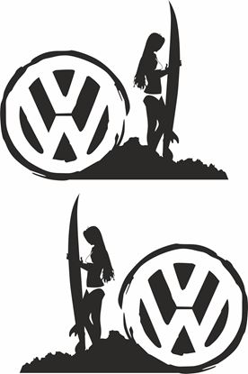 Picture of VW  Surf Woman General panel Decals / Stickers