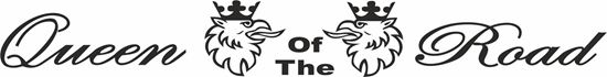 """Picture of """"Queen of the Road"""" windscreen / Panel  Decal / Sticker"""