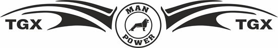 "Picture of ""MAN Power TGX"" windscreen / Panel  Decal / Sticker"