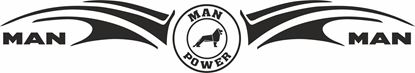 "Picture of ""MAN Power"" windscreen / Panel  Decal / Sticker"