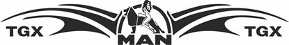 Picture of MAN Naked Lady windscreen / Panel  Decal / Sticker
