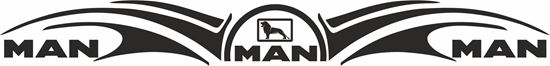 "Picture of ""MAN"" windscreen / Panel  Decal / Sticker"