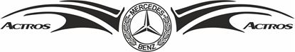 Picture of Mercedes  Actros windscreen / Panel  Decal / Sticker